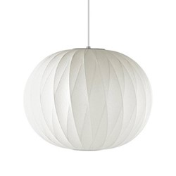 Ball Criss-Cross Medium pendant lamp, W48.5 x H39.5cm, white