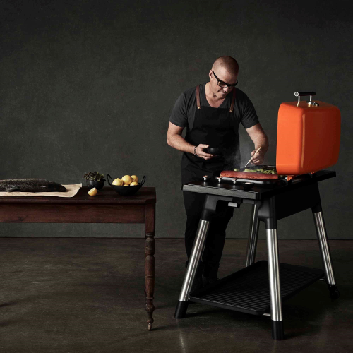 Furnace Gas barbeque with stand, H107 x D74 x W131cm, Graphite