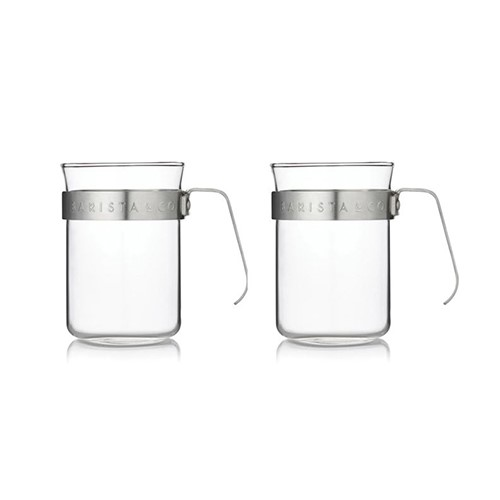 Electric steel Set of 2 metal frame cups, Electric Steel