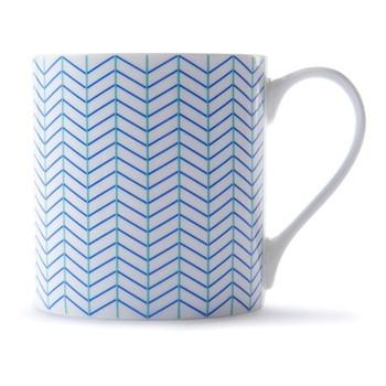 Ebb Mug, H9 x D8.5cm, blue/turquoise