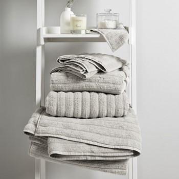 Rib Hydro Cotton Hand towel, 50 x 90cm, platinum