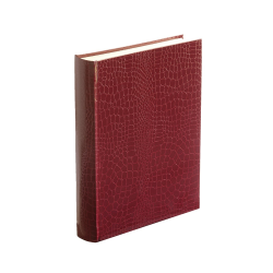 Oyster Bay Photograph album portrait with 50 leaves, 31 x 24cm, Burgundy
