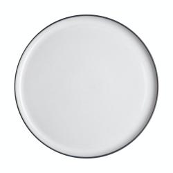 Studio Grey Round platter, 31cm, Grey/White
