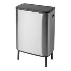 Bo Hi touch bin, 60 litre, matt steel fingerprint proof