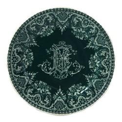 Les Depareillées - Monogramme Set of 6 dessert plates, 23cm, green