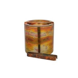 Bar Craft Ice bucket with lid and tongs, D15.5 x D16cm, copper