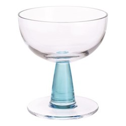 Gin Connoisseur Pair of cocktail glasses, H11.5cm - 21.5cl, clear/blue