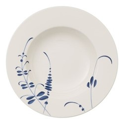 Old Luxembourg Brindille Deep plate, D24cm, white/blue