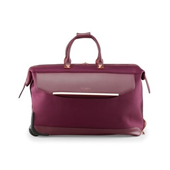 Albany Large trolley duffle suitcase, L36 x W56 x D31cm, burgundy