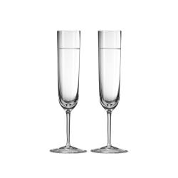 Vera Wang - Bande Pair of toasting flutes, Crystalline
