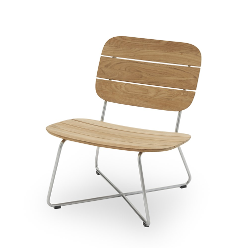 Lilium Lounge chair, 74cmx65cmx66cm, Beige/ Natural