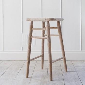 Tall wooden stool L40 x W40 x H75cm