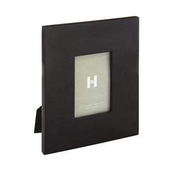 "Lacquer Photograph frame, 5 x 7"", black"