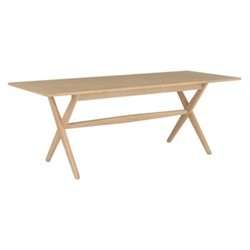 Austin Eight seater dining table, W85 x H75 x L208cm, oak