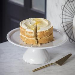 Brompton Cake stand, H12 x W34 x D34cm, Chalk/Iron