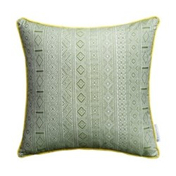 Halsey Cushion, 50 x 50cm, green yellow