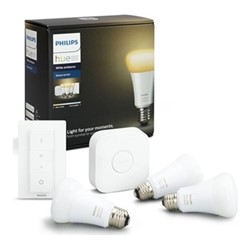 Philips Hue - E27 Smart Bulb Starter Kit, white ambience