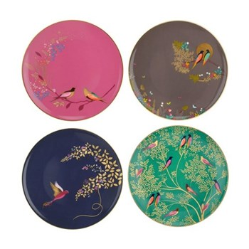 Chelsea Collection Set of 4 cake plates, 20cm