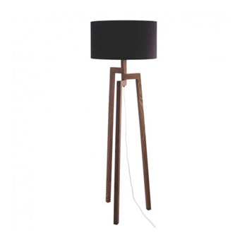 Dylan Hdr Wooden floor lamp, W45 x H150 x D45cm, black/walnut stained