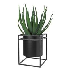 Pure Flower stand, H45 x W34 x L34cm, black