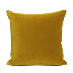Monroe Square cushion, velvet/mustard