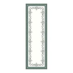 Les Depareillées - Guirlande Fleurie Table runner, 50 x 150cm, green