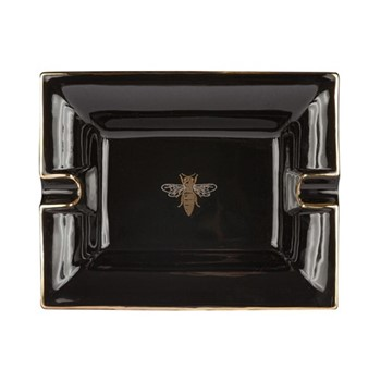 Bee Trinket tray, L20 x W16 x H3.6cm, black