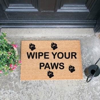 Wipe Your Paws Doormat  , L60 x W40 x H1.5cm