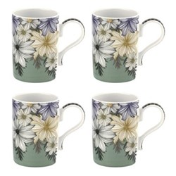 Atrium Set of 4 mugs, 34cl, green