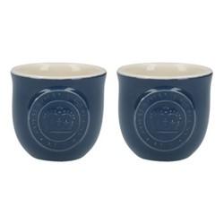 Richmond Pair of egg cups, H5 x D5cm, navy