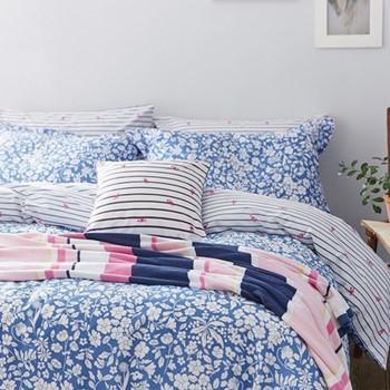 Orchard Ditsy King size duvet cover, L220 x W230cm, blue yonda
