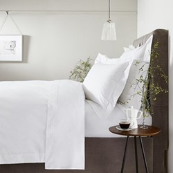 Savoy - 400 Thread Count King size duvet cover, W225 x L220cm, white