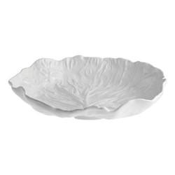 Cabbage Salad bowl, 35.5 x 32.5 x 7.8cm, beige