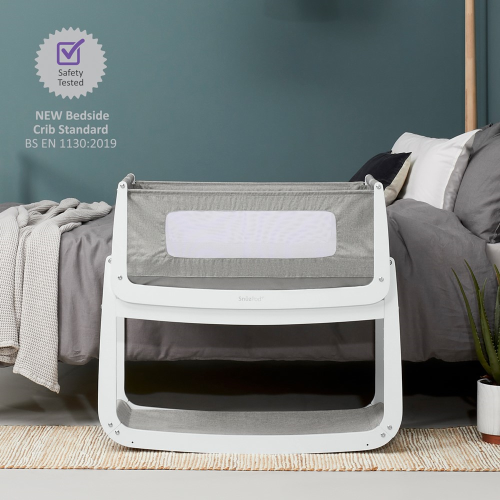 SnuzPod Bedside Crib, H49 x W95cm, Dusk