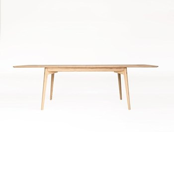 Dulwich Large oak extending dining table, H74.5 x W200 x D100cm, oak