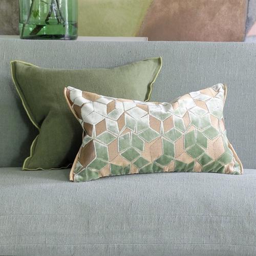 Fitzrovia Cushion, H30 x W50cm, Jade
