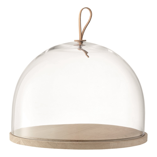 Ivalo Dome with ash base, H20.5 x D32cm, clear
