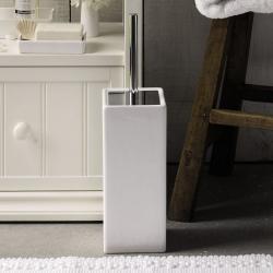 Newcombe Ceramic Toilet brush holder, H42 x W11.5 x L11.5cm, White