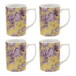 Kingsley Set of 4 mugs, ochre