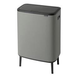 Bo Hi touch bin, 60 litre, mineral concrete grey