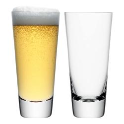 Madrid Pair of beer glasses, 600ml, clear