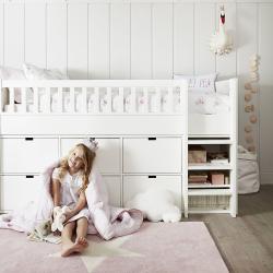 Classic Mid sleeper bed, 112 x 100 x 198cm, White
