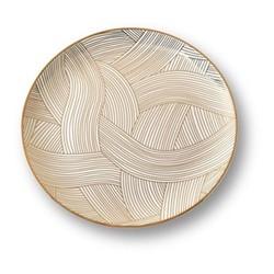 Lustre Platter, D34cm, gold dhow