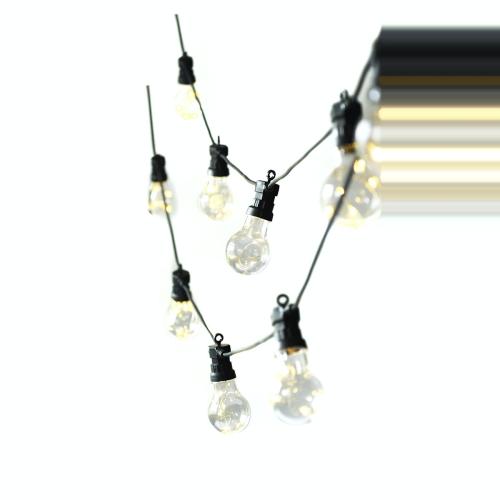 Festoon lights, L4.5m - 10 Bulbs