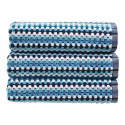 Carnaby Stripe Pair of bath towels, L70 x W137cm, blue