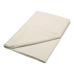 200TC Plain Dye Super king size flat sheet, L260 x W315cm, linen