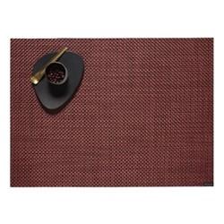 Basketweave Set of 4 rectangular placemats, 36 x 48cm, pomegranate