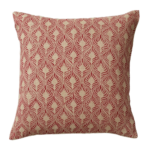 Cushion Cover, Ghini Feathers, Red, 51 x 51cm