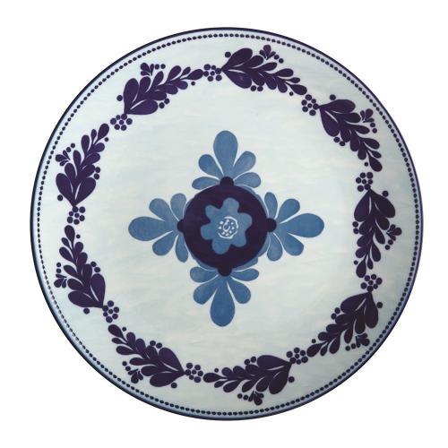 Majolica Majolica Porcelain Dinner Plate Sky Blue, Multi