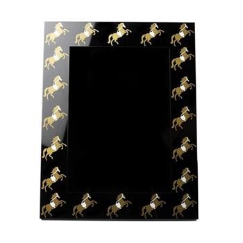 Horse Photograph frame, H26.5 x W21.5 x D2cm, silver/gold